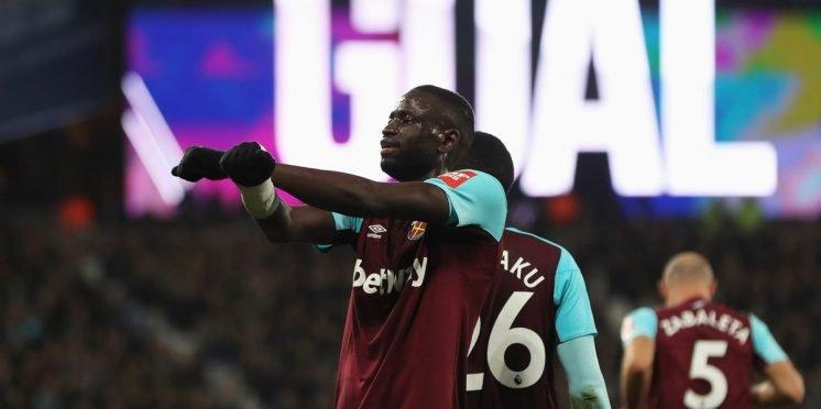 West Ham United midfielder Cheikhou Kouyate