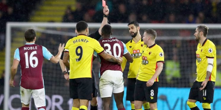 Watford striker Troy Deeney and West Ham United winger Michail Antonio