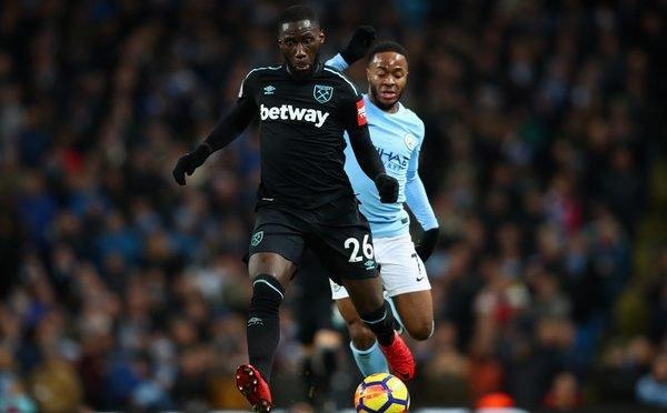 West Ham United winger Arthur Masuaku
