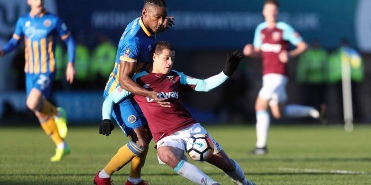 West Ham United striker Javier Hernandez