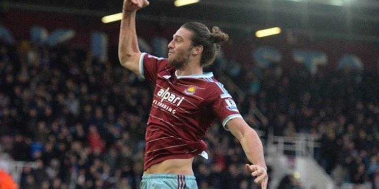 West Ham United striker Andy Carroll