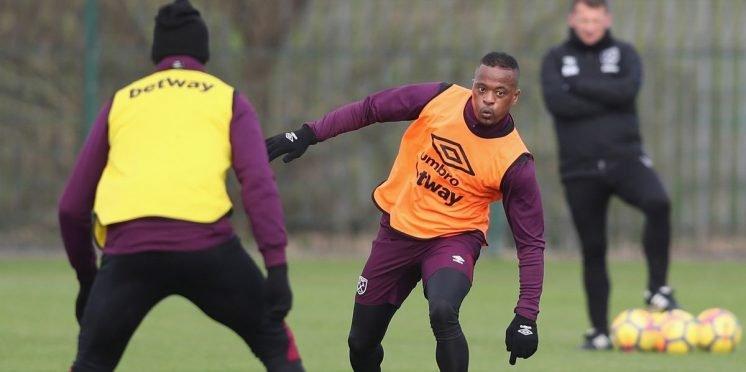 West Ham United defender Patrice Evra