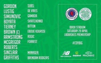 Image for Celtic line up