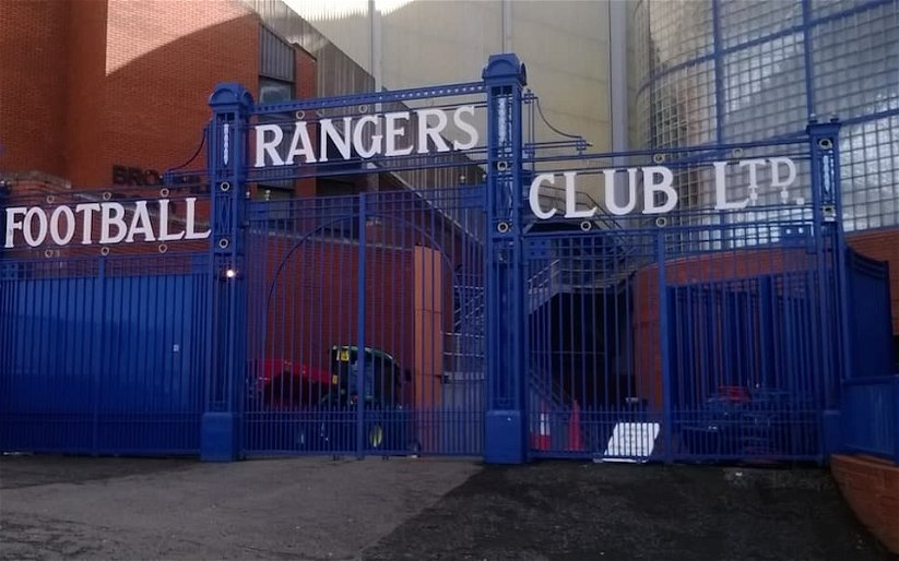 """Image for """"Crayons, embarrassing, unreadable, state eh that, worst tifo yet"""" Sevco's latest tifo fail."""