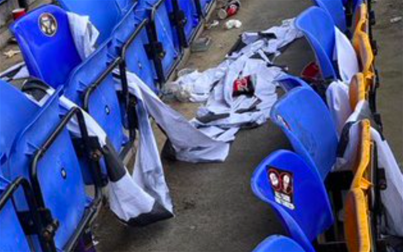 """Image for """"All Taigs are targets"""", Sevco plaster their hate in St. Johnstone without issue. Time to close stands at Ibrox"""