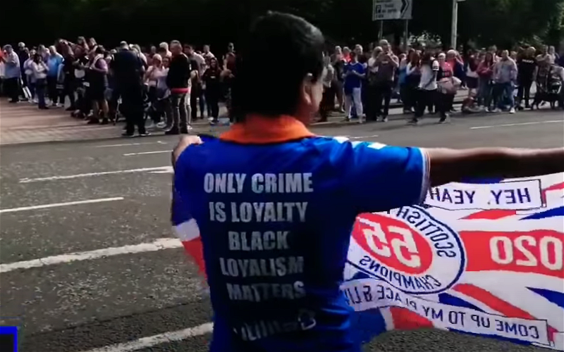 """Image for Videos: """"I'd rather be a P""""ki than a Tim"""" sung over and again with Abdul being mobbed at orange march in Sevco top"""