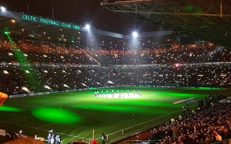 """Image for """"Rippin the ass oot this now, bloody embarrassing tweet, read the room"""" Celtic FC admin doubles doon on disco lights"""