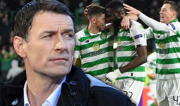 Chris Sutton and Celtic players.