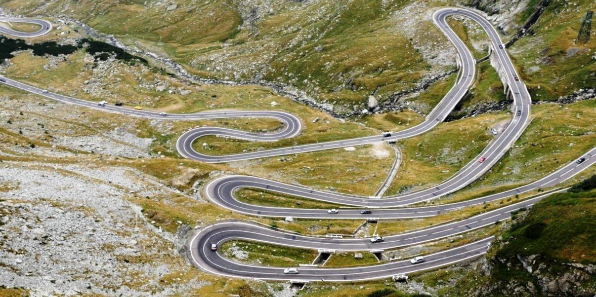 Spectacular road in Romania