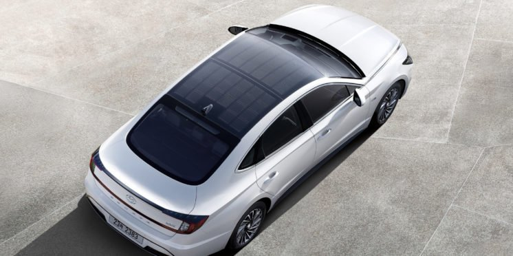 New Hyundai is first with a solar roof