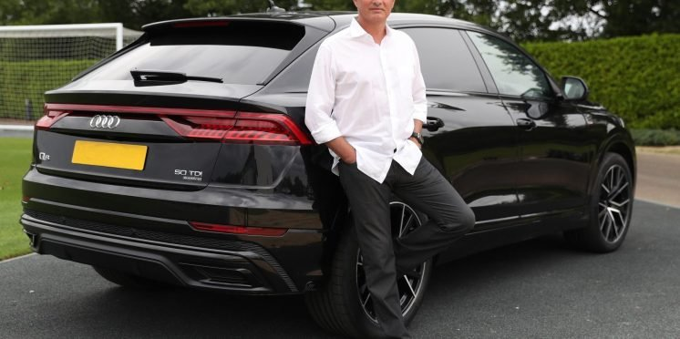 José Mourinho, Head Coach of Tottenham Hotspur Football Club and new Audi Ambassador, with his Audi Q8